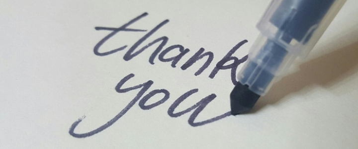 "pen writing words ""thank you"""